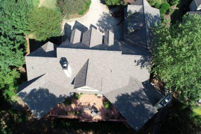Gray shingles on Atlanta home
