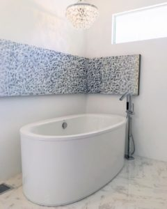 Freestanding tubs are common in bathroom renovations