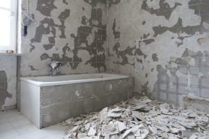 the bathroom will be unusable after demolition