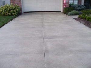 A concrete driveway can last up to fifty years