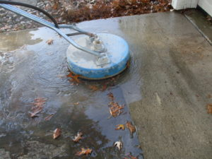 driveway scrubber