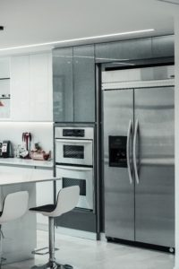 stainless steel refrigerator and appliances