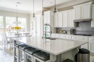 white cabinets and white counters