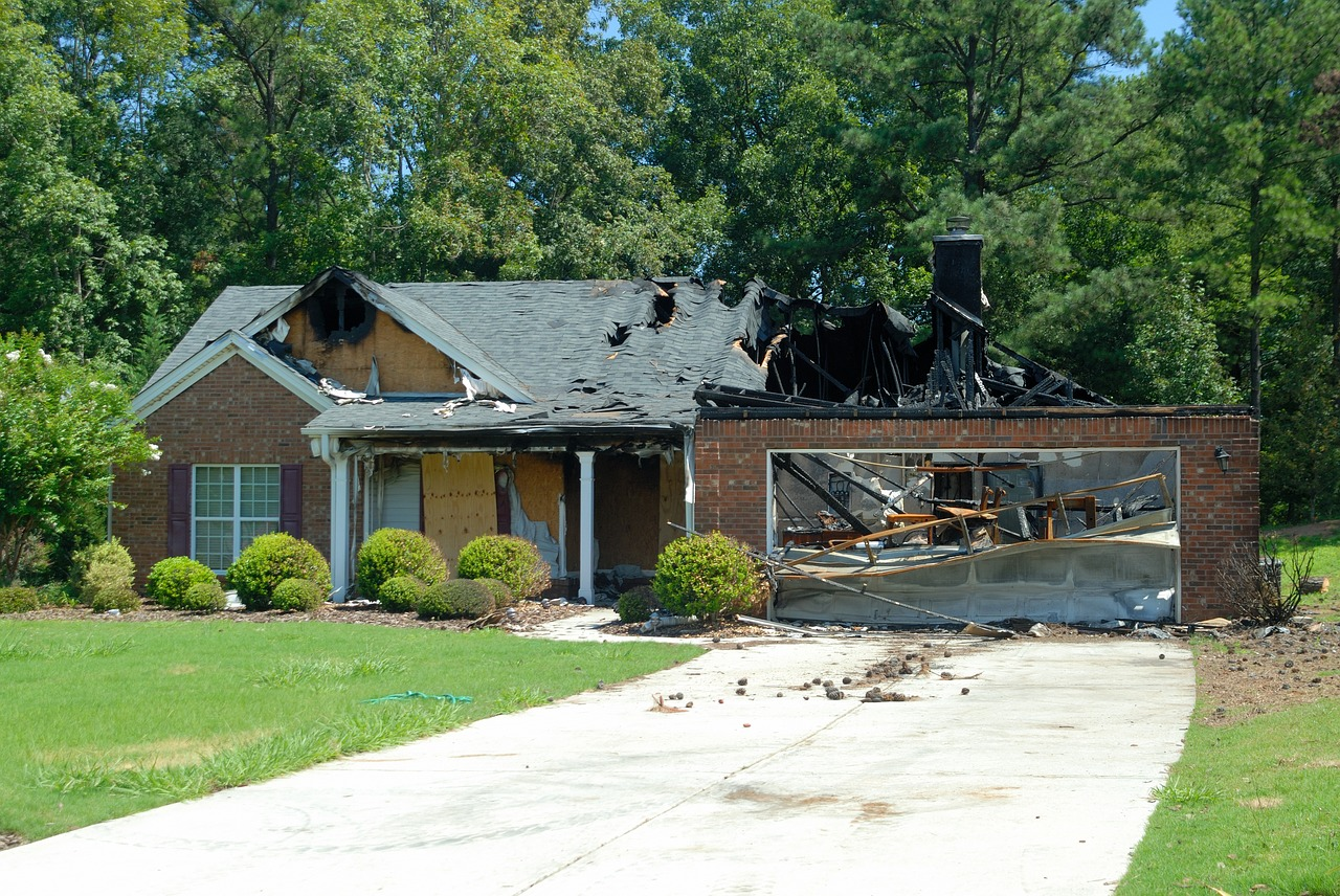 Mitigation vs restoration on fire damaged house