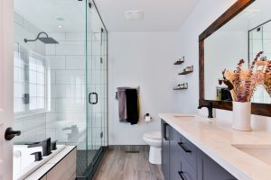 bright bathroom remodel