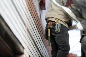 close up of contractor tool belt